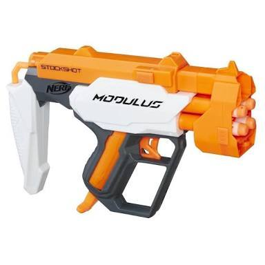 ... the retaliator, modulus shield bullet holder thingy, modulus connected  gun thingy, cross bolt, ion fire, and a whole bunch of other smaller nerf  guns.